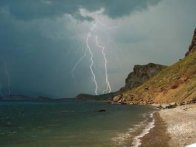 Storm Over Karadag  Print by Yuri Hope