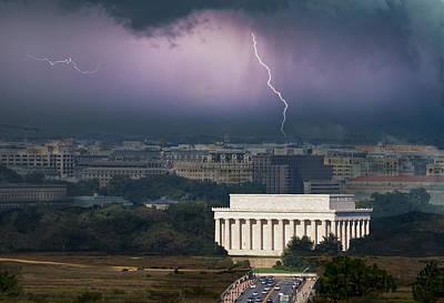 Lightning D Photograph - Storm Over The Capitol by Janet Ballard
