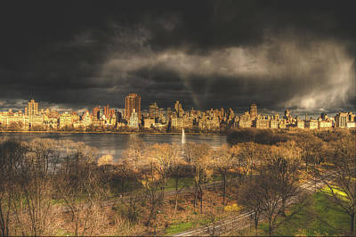 Storm Over The Park Print by Ariane Moshayedi