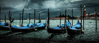 Photograph - Storm Over Venice Italy by Alex Saunders