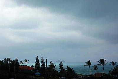 Grey Clouds Photograph - Stormy Day Hawaii by Kevin Smith