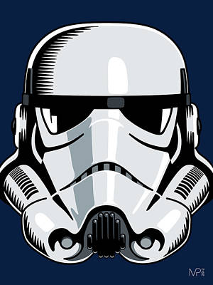 Stars Digital Art - Stormtrooper by IKONOGRAPHI Art and Design