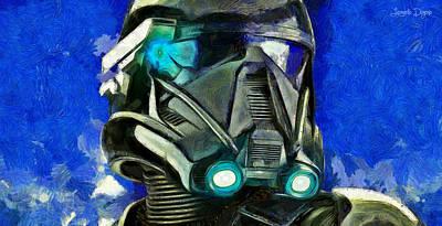 Stars Digital Art - Stormtrooper Of Future - Da by Leonardo Digenio