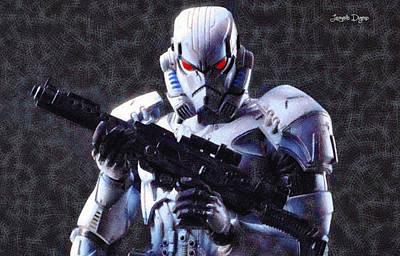 Action Painting - Stormtrooper Terminator - Pa by Leonardo Digenio