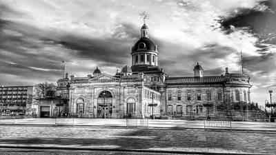 Stormy Day City Hall Print by Wayne Turcotte