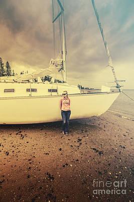 Woman Enjoying Life Photograph - Stormy Day Retreat by Jorgo Photography - Wall Art Gallery