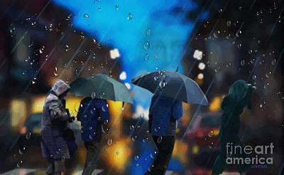 Digital Art - Stormy Intersection by Joseph Juvenal