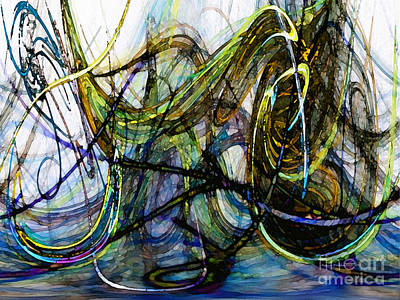 Contemporary Abstract Digital Art - Stormy Monday Blues by Karin Kuhlmann