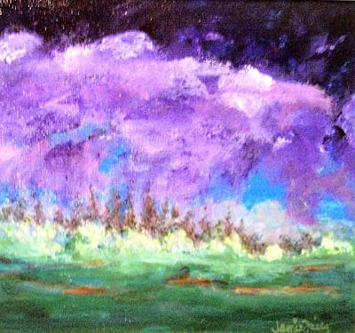 Free Form Painting - Stormy Sky by Jamie Frier