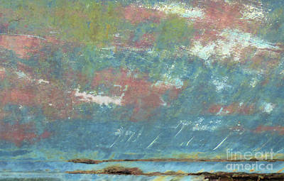 Abstract Beach Landscape Digital Art - Stormy Sunset by Sharon Eng