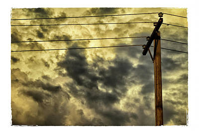 Grey Clouds Photograph - Stormy Sunset by Tony Grider