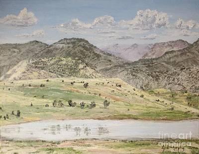 Oil Painting - Storrie Lake by Jodi Murphy
