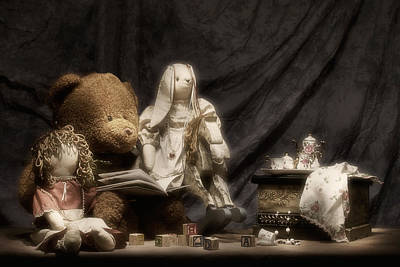 Doll Photograph - Story Time by Tom Mc Nemar