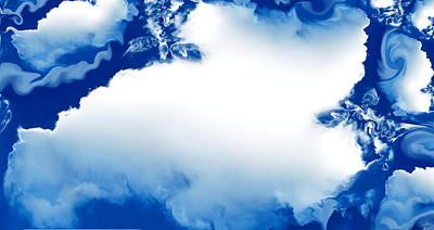 Dramatic Photograph - Storybook Clouds Dreaming by Abstract Angel Artist Stephen K