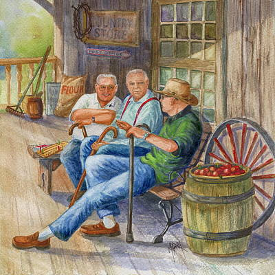 Old Friend Painting - Storyteller Friends by Marilyn Smith