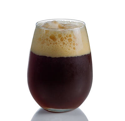 Stout Beer In Stemless Glass Print by Thomas Baker