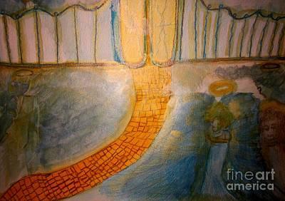 Brown Painting - Strait Gate by Stephanie Zelaya