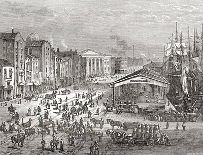 Strand Street, Liverpool, Lancashire Print by Vintage Design Pics
