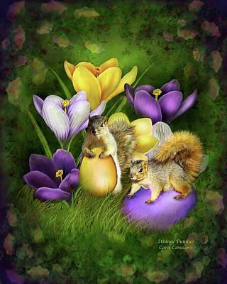Squirrel Mixed Media - Strange Bunnies by Carol Cavalaris