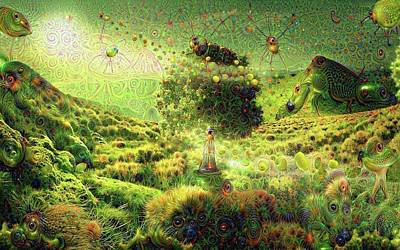 Strange Dreams 2 Print by Lilia D