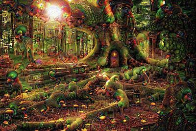 Outsider Art Digital Art - Strange Dreams 3 by Lilia D