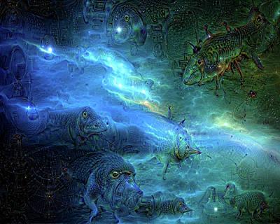 Outsider Art Digital Art - Strange Dreams 6 by Lilia D