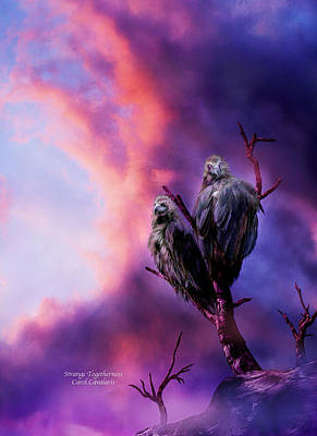Vulture Mixed Media - Strange Togetherness by Carol Cavalaris