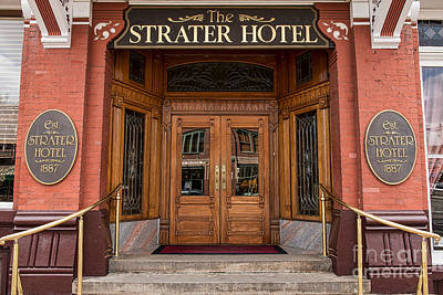 Strater Hotel Durango Print by Tod and Cynthia Grubbs