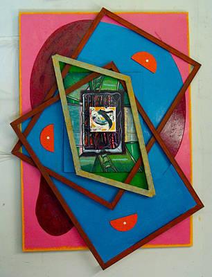 Stratified Tryptych Print by Al Goldfarb