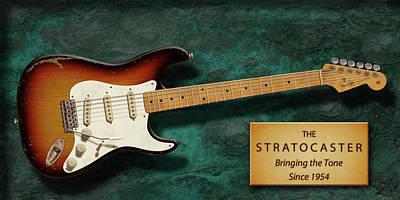 Robert Cray Digital Art - Stratocaster Anniversary by WB Johnston