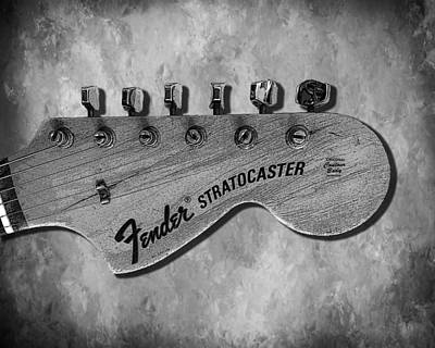 Music Photograph - Stratocaster Head by Mark Rogan