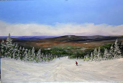Painting - Stratton Ski Trail by Ken Ahlering