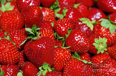 Strawberries Print by Carlos Caetano