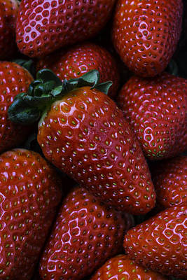 Juicy Strawberries Photograph - Strawberries by Garry Gay