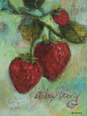 Strawberries Original by Jen Norton