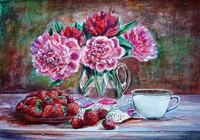 Spirit Catcher Painting - Strawberries With Cream by Katreen Queen