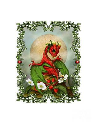 Strawberry Digital Art - Strawberry Dragon T-shirt by Stanley Morrison