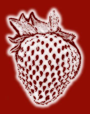 Strawberry Print by Frank Tschakert