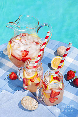 Lemonade Photograph - Strawberry Lemonade by Elena Elisseeva