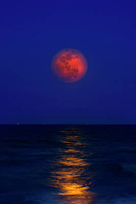 Strawberry Moon Print by Mark Andrew Thomas