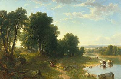 Strawberry Painting - Strawberrying by Asher Brown Durand
