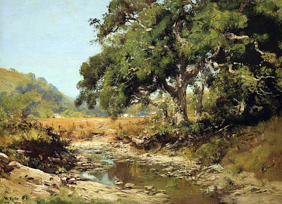 Stream Through The Valley Print by William Keith