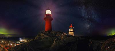 Noruega Photograph - Streams Of Light by Iwan Groot