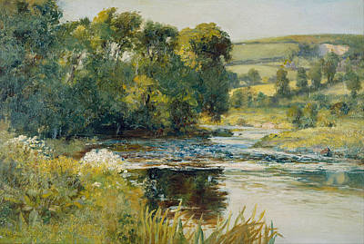 Edward Mitchell Bannister Painting - Streamside by Edward Mitchell Bannister