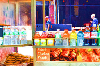 Hamburger Painting - Street Food 3 by Lanjee Chee