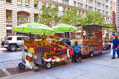 Hamburger Painting - Street Food  4 by Lanjee Chee
