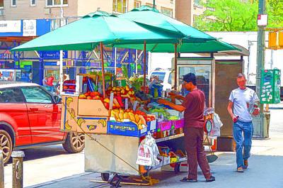 Hamburger Painting - Street Food 6 by Lanjee Chee
