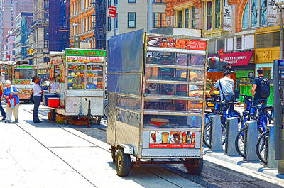 Hamburger Painting - Street Food 8 by Lanjee Chee