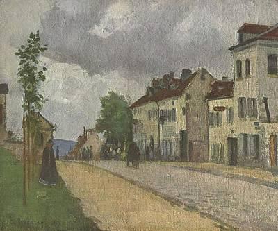 Street In Pontoise Strae In Pontoise Print by Camille Pissarro