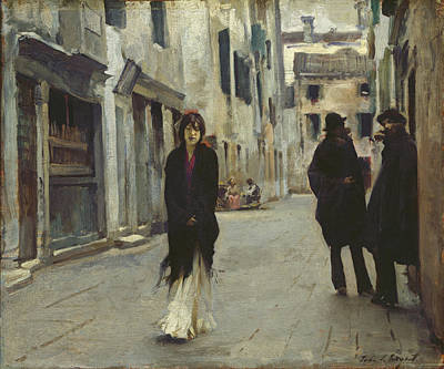 Life In Italy Painting - Street In Venice,  by John Singer Sargent
